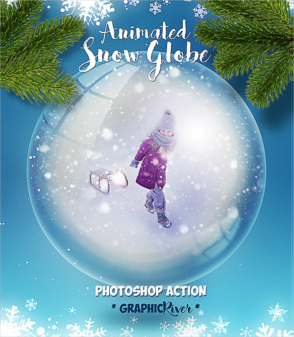 Animated Snow Globe Photoshop Action