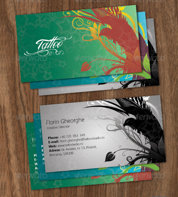 Attractive Tattoo Studio Business Cards