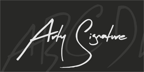 Arty Signature Fonts