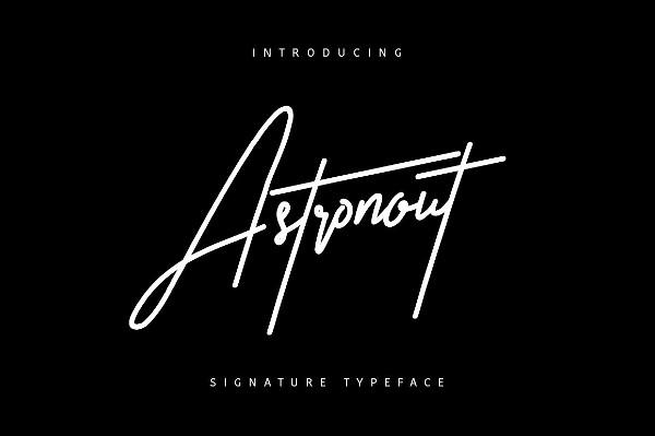 Astronout Signature Logo Font