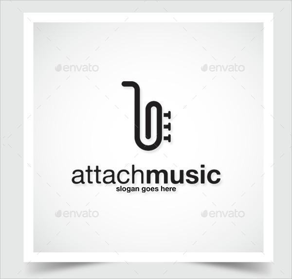 Attach Music Logo Template