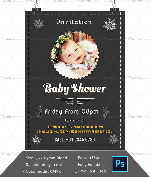 Attractive Baby Shower Invitation Template