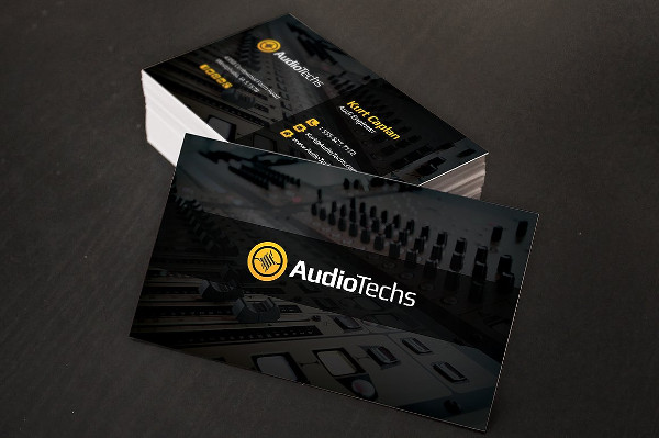 Audio Engineer Business Cards & Logo