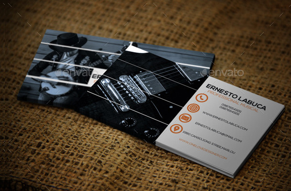 Classic Music Business Card Template