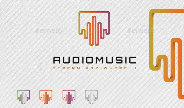 Audio Music Studio Logo Template