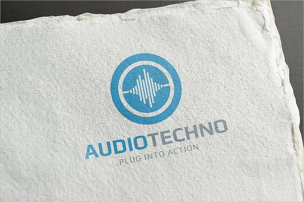 Audio Techno Logo Template
