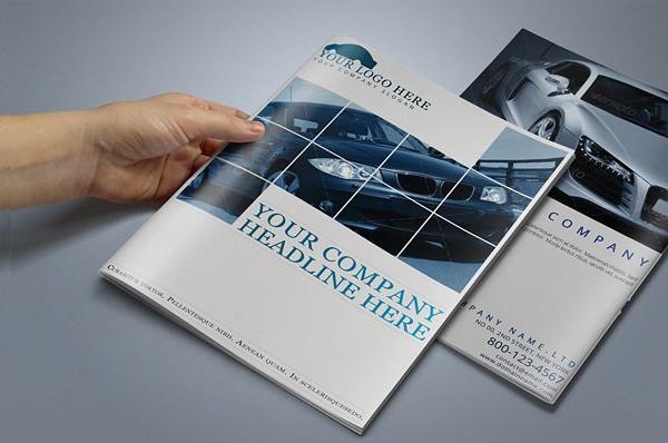 Clean Automobile Brochure Template