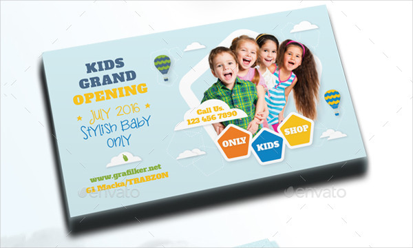 29 kids business cards psd ai eps vector format download