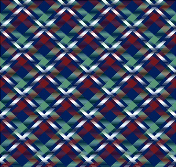 Fabric with Tartan Pattern Free Vector