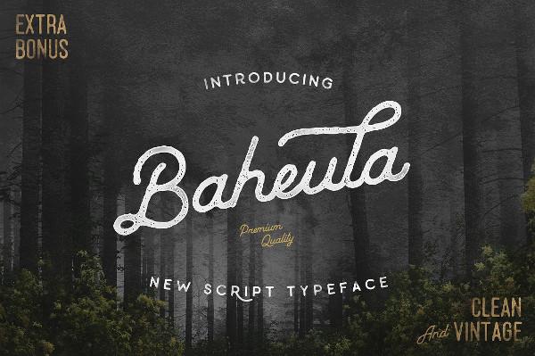 Baheula Vintage Font