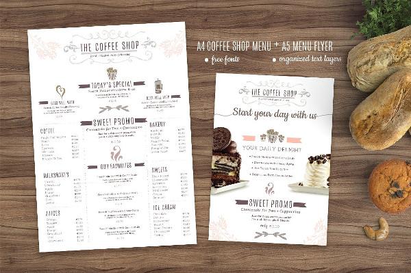 Bakery & Coffee Menu Template