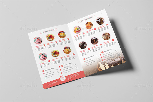 Bakery & Cupcake Shop Menu Template