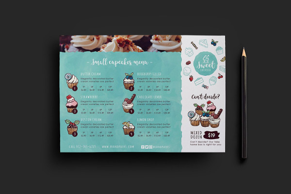Baking Cake Shop Flyer Template