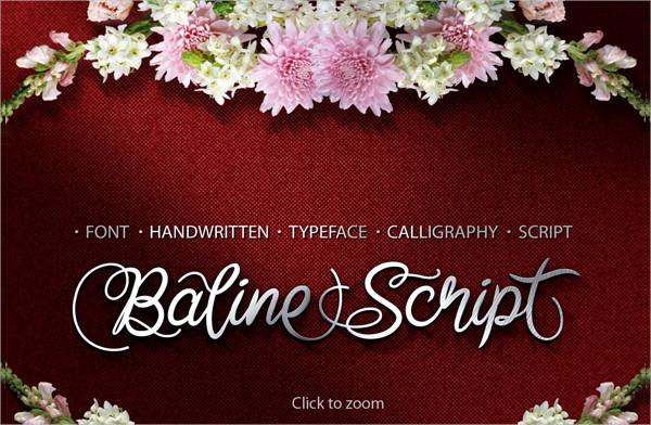 Baline Script Fonts