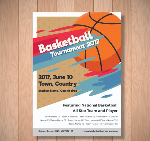 Free Basketball Tournament Brochure