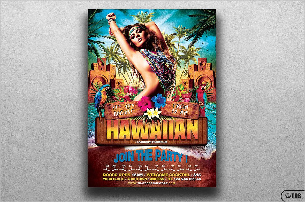 Beach Party Exotic Flyer Template