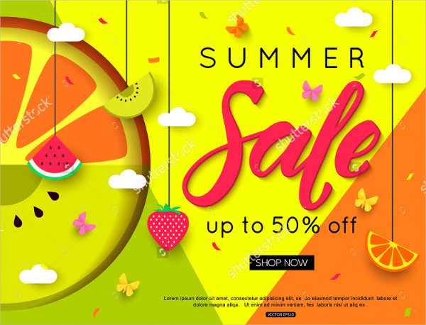 Beautiful Summer Sale Banner