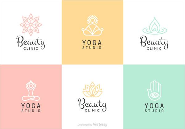 Beauty &Yoga Vector Logo Set Free