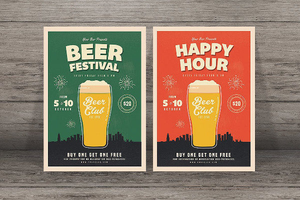 Unique Beer Festival Party Flyer
