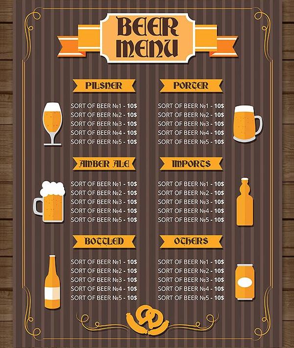 bar menu template 27 free psd ai eps vector format download