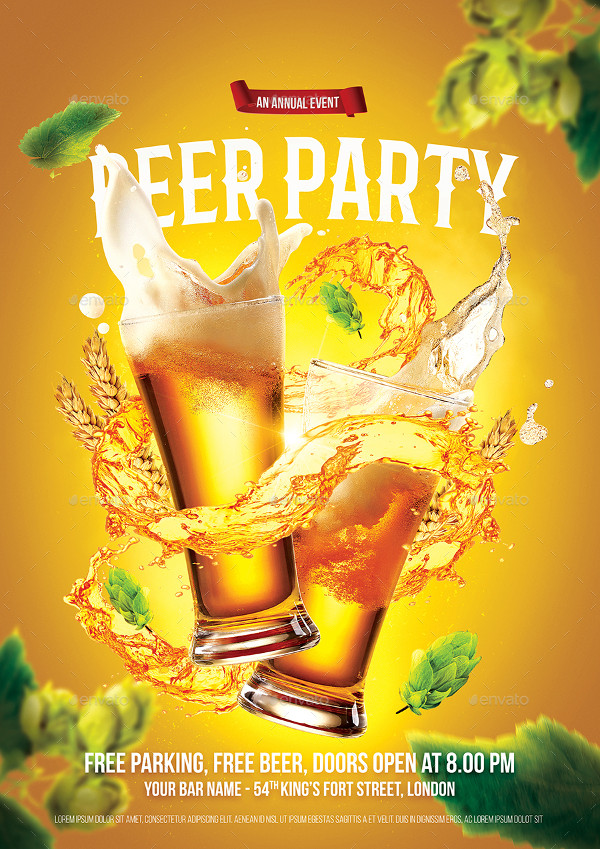 Perfect Beer Party Flyer Template