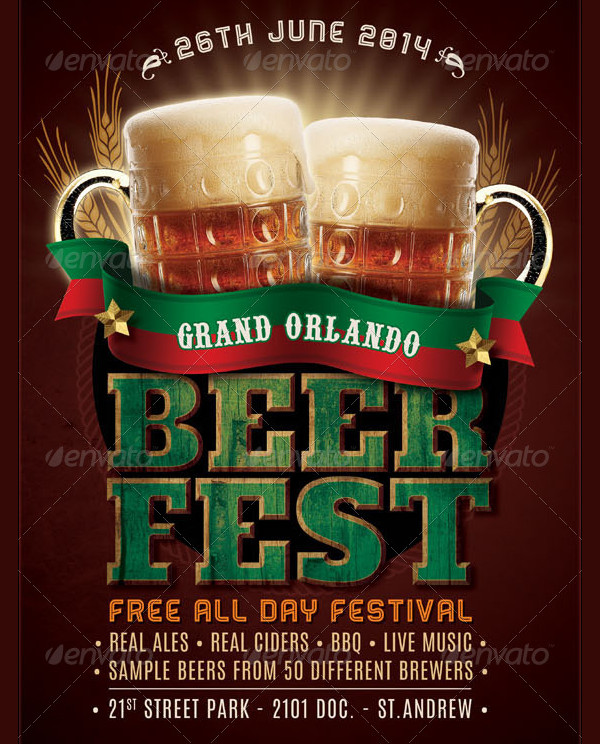 Vintage Beer Fest Flyer Template