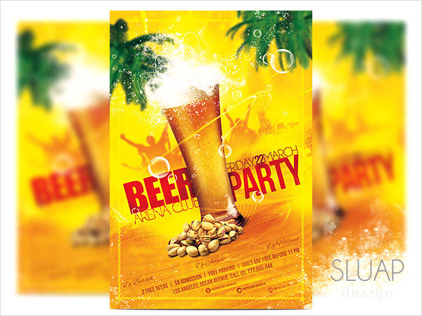Beer Party Celebration Flyer Template