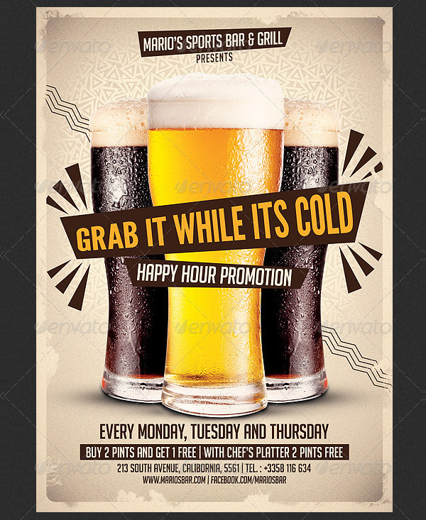 Beer Promotion Party Flyer Template
