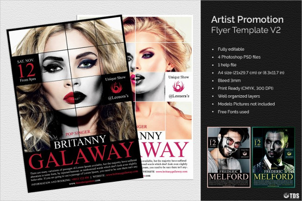 Best Artist Promotion Flyer Template