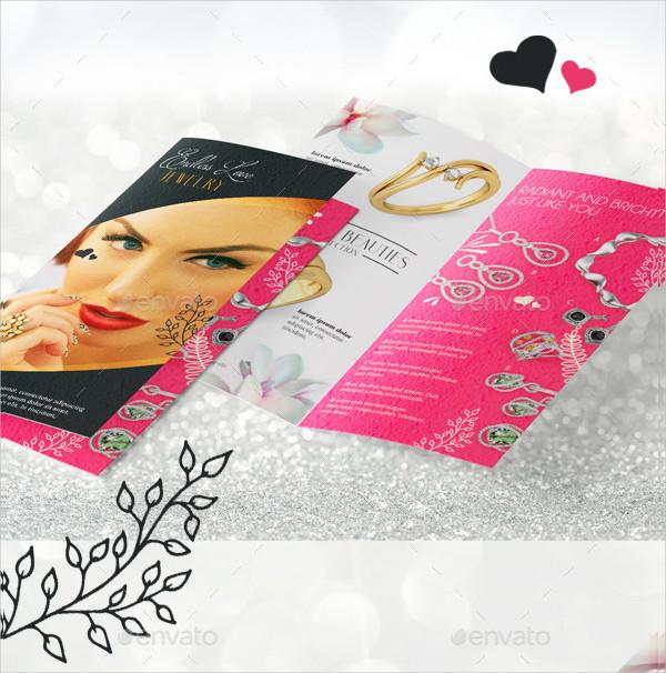 Bi-Fold Jewelry Brochure Template