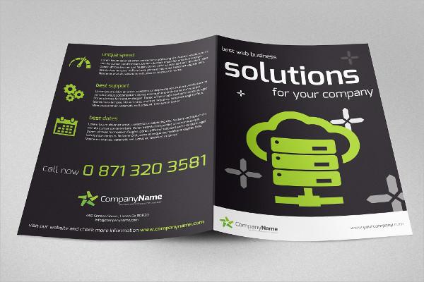 Bi-Fold Web Solution Brochure Template