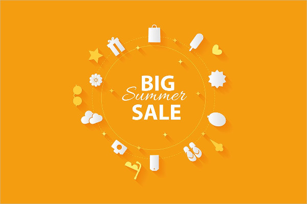 Big Summer Sale Vector Banner Template
