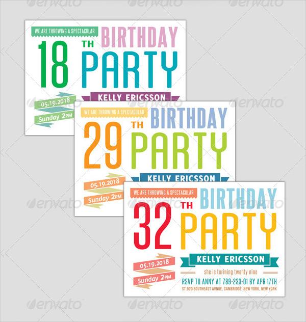 Birthday Invitation Typography - Big Event