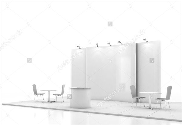 Blank Creative Booth Mock-Up