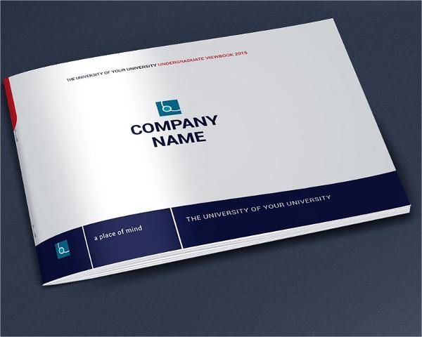 Blue Green Color Brochure for University