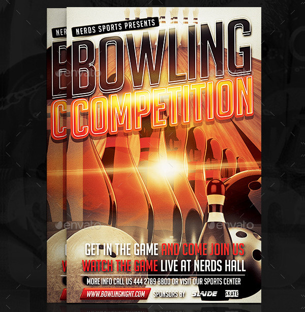 Bowling Competition Flyer Template