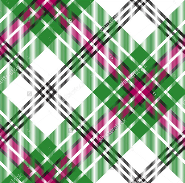 Bright Tartan Diagonal Patterns