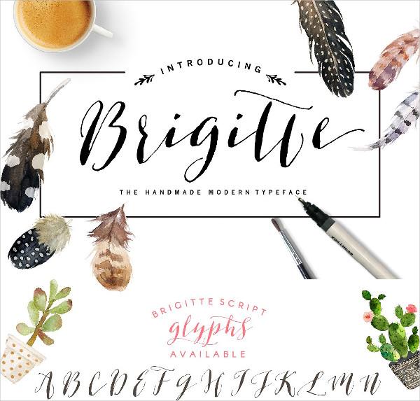 Brigitte Script Font