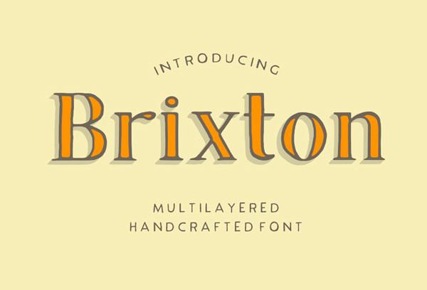 Brixton Pro Logo Font