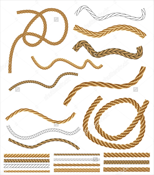 Brown Rope Vector Brushes