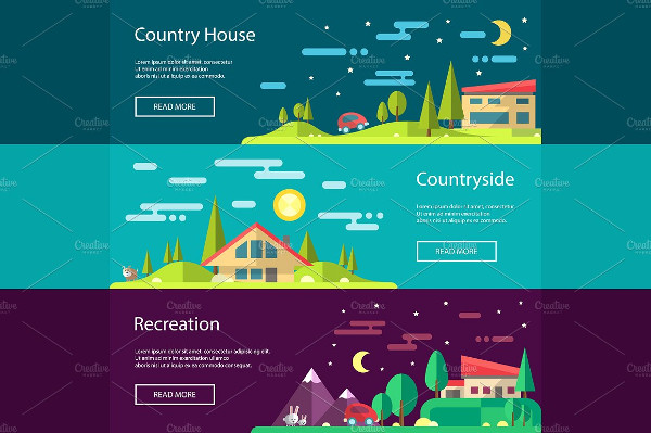 Buildings Infographics Banners