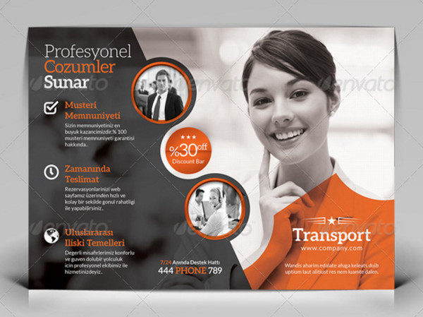 Professional Transport Flyer Template