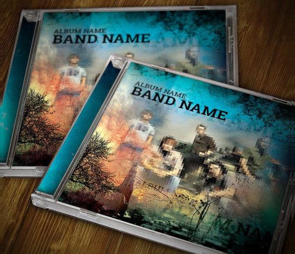 Music CD Cover & Artwork Template