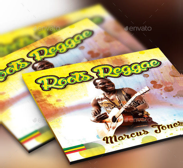 Roots Reggae CD Artwork Photoshop Template