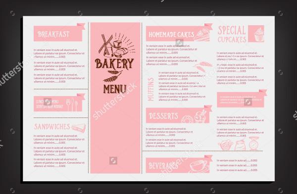 Design Bakery Menu Template