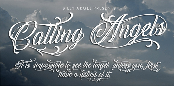 Calling Angels Personal Use font