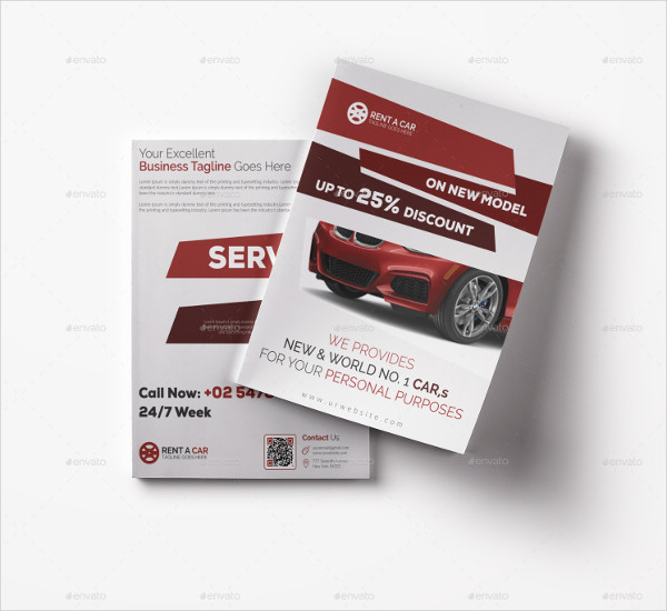 Latest Car Bifold Brochure Template