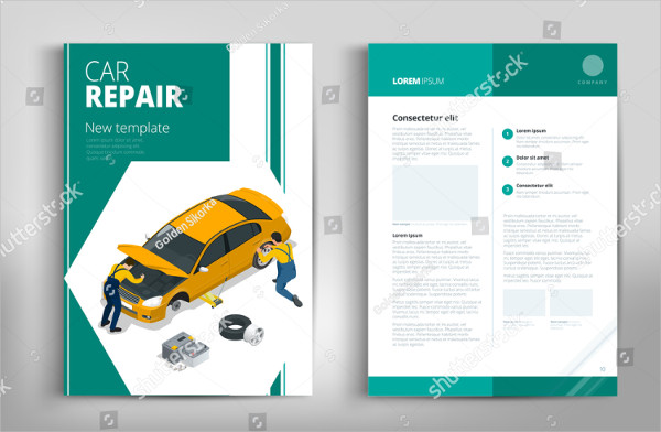 Car Repair Brochure Design