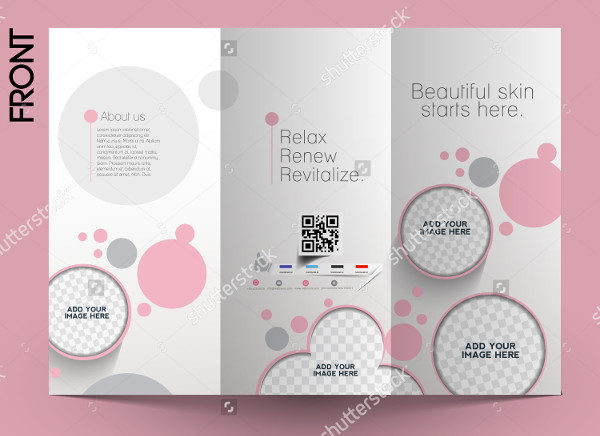 Beauty Care Salon Advertising Brochure Template