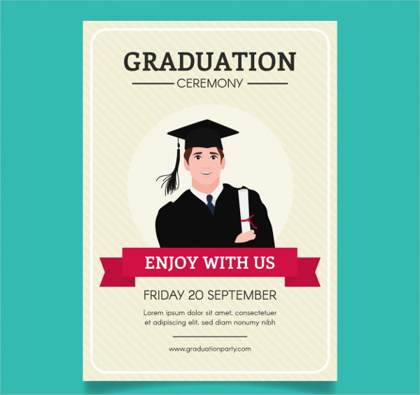 Free Striped Graduation Party Brochure